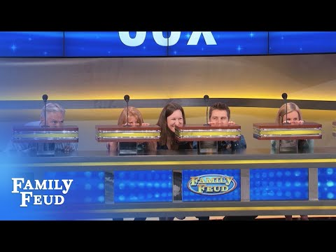 The Cox family go UNDERCOVER! | Family Feud