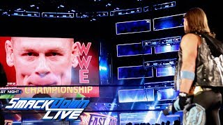 AJ Styles responds to John Cena's WrestleMania suggestions: SmackDown LIVE, March 6, 2018