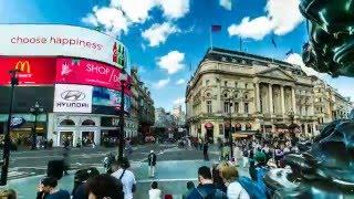 Timelapse footage of London