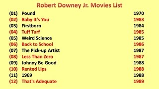 Robert Downey Jr  Movies List