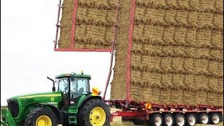 World Amazing Modern Agriculture Equipment and Mega Machines: Hay Bale Handling Tractor, Loade #ALN