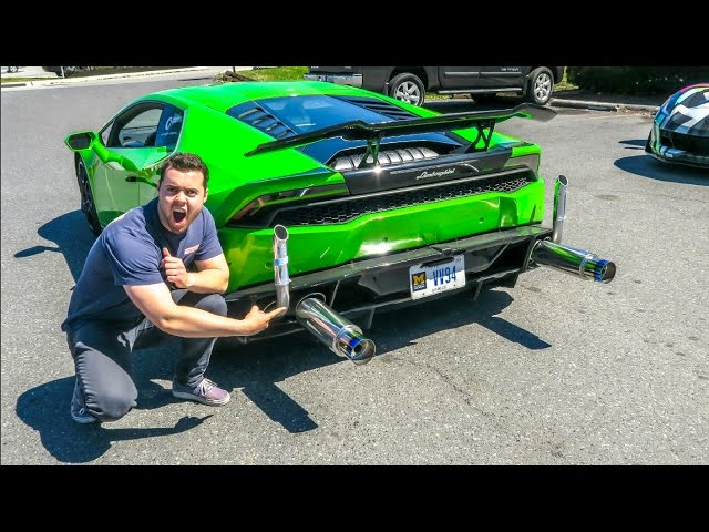 I Can't Believe I Did This To My Car...LAMBORGHINI FART CAN INSTALL!!!