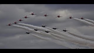 RIAT 2017  Red Arrows and Thunderbirds Fly-pass
