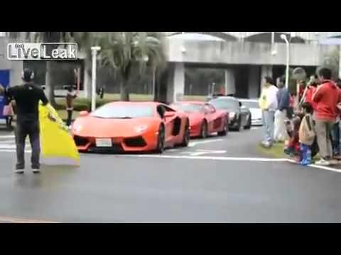 Mengerikan Parade Lamborghini di Jepang Tabrak Penonton