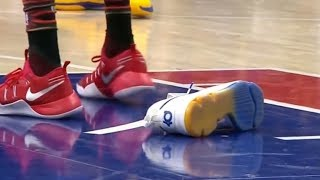 """NBA """"Playing Without A Shoe"""" Moments"""