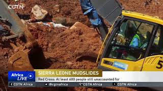 Red Cross: At least 600 people still unaccounted for after Sierra Leone deadly mudslide