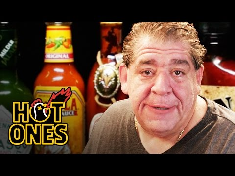Joey CoCo Diaz Breaks Out the Blue Cheese While Eating Spicy Wings Hot Ones