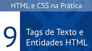 Texto e Entidades HTML - HTML e CSS na Prática U3L1