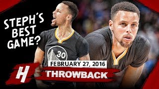 Stephen Curry GREATEST Game Ever! Full Highlights vs Thunder 2016.02.27 - 46 Pts, EPIC GAME-WINNER!