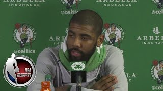 [FULL] Kyrie Irving and Brad Stevens react to Celtics loss to Cavaliers | ESPN