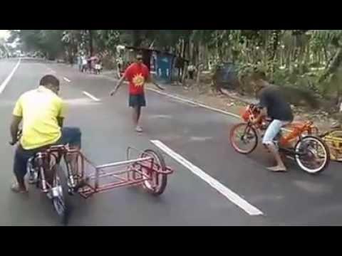 Drag Bike unik dengan menggunakan roda 3
