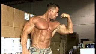 Bodybuilder T.J. Humphreys poses for photos