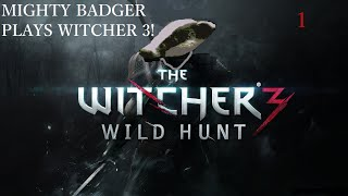 Mighty Badger Plays Witcher 3 - Part 1 - NUDE PEOPLE AND COOL CUTSCENES!