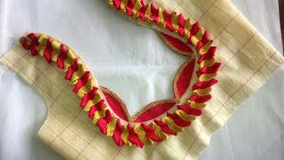 new design blouse cutting and stitching  at home