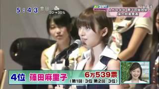 AKB48 第3回 選抜 総選挙 第1~10位 前田敦子さん 大島優子さん