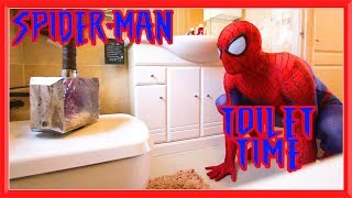 Spiderman Toilet Time in Real Life