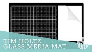 Tim Holtz Glass Media Mat Close-Up