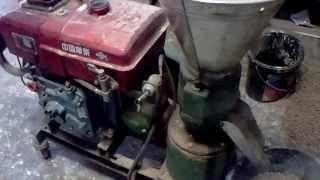 Pellet Presse aus China mit Diesel Motor