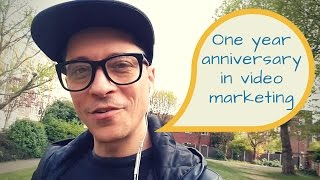 1 year in video marketing, achieving goals and celebrating progress...