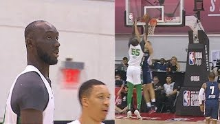 Tacko Fall Murders Nuggets Player For Attempting A Charge! Celtics vs Nuggets 2019 NBA Summer League