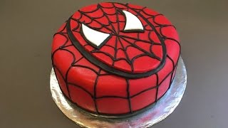 Spiderman Cake - Birthday Boy - Tutorial - How to | BOLO HOMEM ARANHA