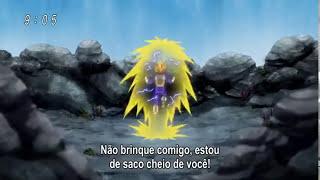 Super Vegeta enfrentando Bills Sama