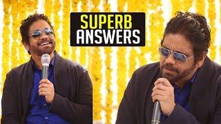 Nagarjuna Superb Answers To Media Questions | Raju Gari Gadhi - 2 Movie Launch | #RGG2 | TFPC