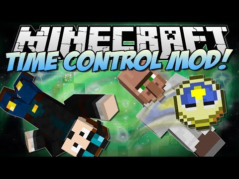 Minecraft TIME CONTROL MOD Slow Motion Super Speed and The Matrix Mod Showcase