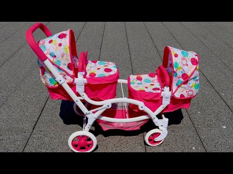 Xxx Mp4 Best Baby Doll Twin Stroller Double Pram Unboxing Set Up Pretend Play With Baby Annabell 3gp Sex