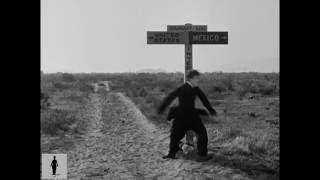 Charlie Chaplin Straddling the U.S.-Mexico Border - The Pilgrim (1923)