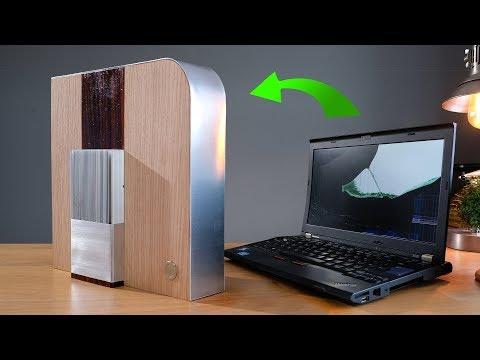 Transform a laptop into a stunning desktop media PC for CHEAP
