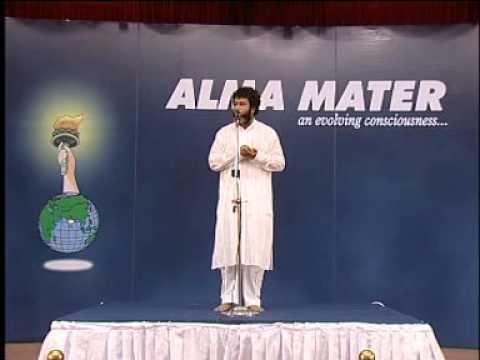 T.T.Rangarajan Founder Alma Mater speaks on DINACHARYA