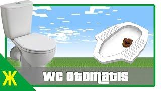 Minecraft Tutorial - Membuat WC Otomatis