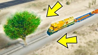 CAN A TREE STOP THE TRAIN IN GTA 5?