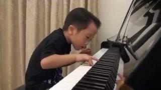Tsung Tsung Amazing Piano Prodigy (5Age) - Flood Time - Air 師承邱世傑 (age 3.5 - 6 ).
