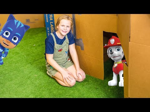 Paw PAtrol and PJ Masks Ultimate Box Fort Hide N Seek Challenge with the Assistant