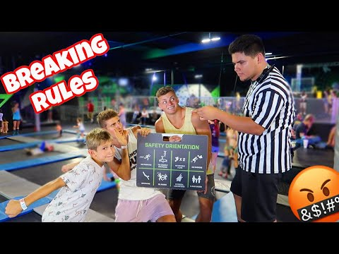 BREAKING ALL THE RULES AT A TRAMPOLINE PARK