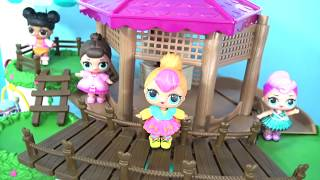 LOL Surprise PET and Doll Goes Camping In Woodzeez Treehouse! | Toys Unlimited