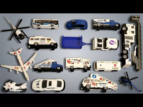 Police & Airport Vehicles Learn Vehicles Educational Video