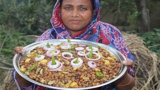 Village Food Yummy Chola Bhona Recipe Delicious Chola Boot Vuna Curry Village Style Ifter Recipe