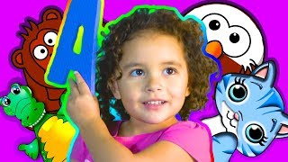 ABC Song With Ashlynn Joy! Featuring A B C D E and Animals   Part 1
