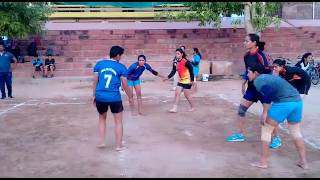 Girls plays kabaddi in chaugan stadium in jaipur