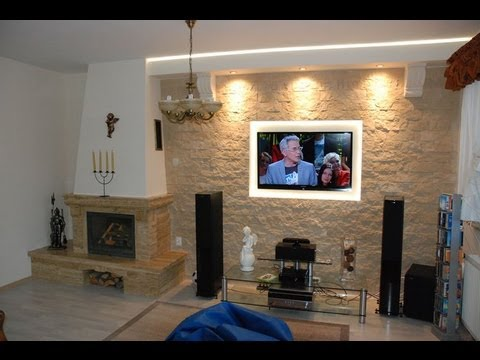 TV wall decorative stone TV Wand in the stone wall decorative ornamental