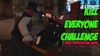 Paris Professional Mode Kill Everyone Challenge - Hitman