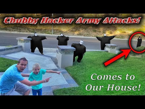 Chubby Hacker Army Top Secret Attack on Our House Led By the Game Master