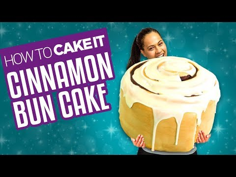 How To Make a GIANT CINNAMON BUN CAKE With Cream Cheese Frosting Yolanda Gampp How To Cake It