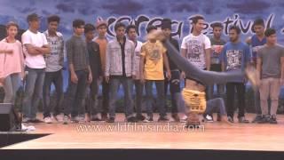 Korea's B Boying Gamblerz crew teaches Indian dancers
