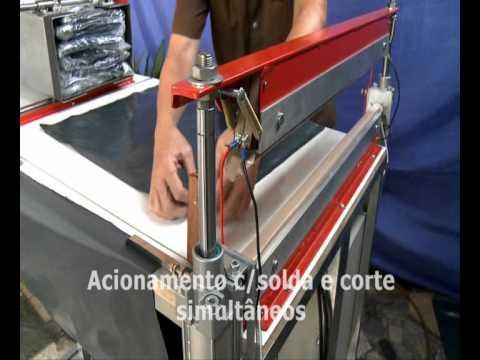 Máquina Embaladora e Seladora Pneumática.
