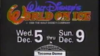 Walt Disney's World On Ice Commercial  - Seattle - Tacoma Dome (1990)