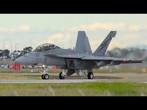 LOUD RAAF F/A-18 Super Hornet Takeoff & Landing ● Melbourne Airport Plane Spotting